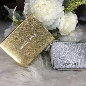 Michael Kors giftables glitter jewelry case